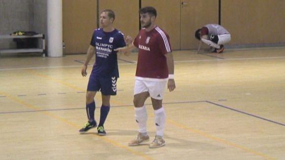 Manel Rion ha estat un dels protagonistes del partit amb dos gols i una gran actuació personal