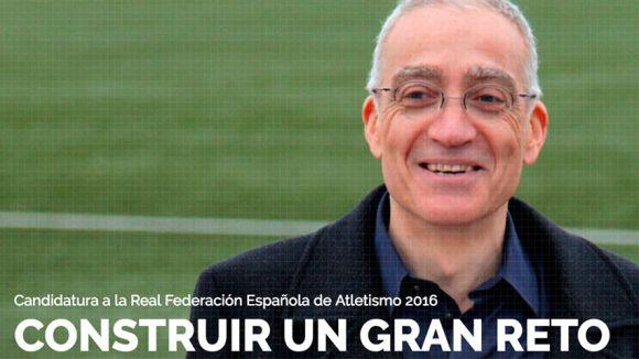 Manel González ja és oficialment candidat a la presidència de la Federació Espanyola d'Atletisme