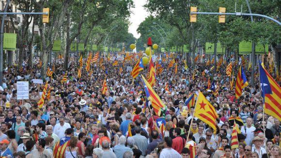 La manifestació va omplir els carrers de Barcelona / Font: racocatala.cat