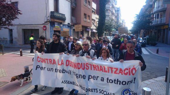 La manifestació de l'1 de maig reclamava el manteniment digne dels llocs de feina