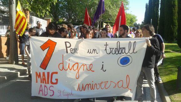 Imatge d'una manifestació local de l'1 de Maig