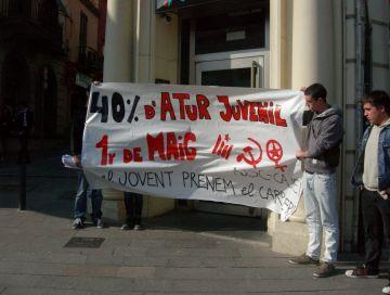 L'AJSC demana una major mobilització als joves contra l'especulació econòmica