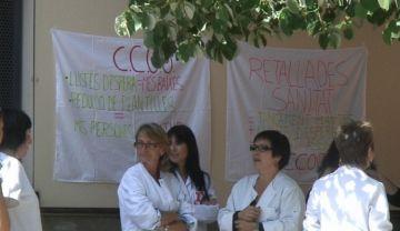 Treballadors del CAP de Sant Cugat es concentren per demanar informació sobre les retallades