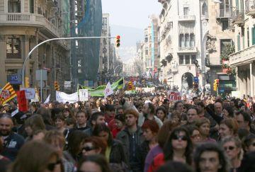 En l'últim any els sindicats de l'ensenyament s'han manifestat en diverses ocasions