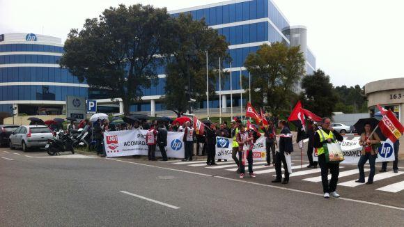 Els treballadors d'HP continuen la lluita
