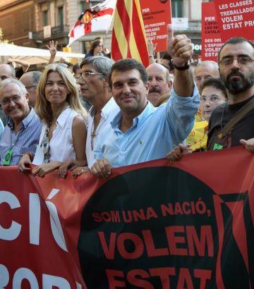 Laporta va encapçalar la manifestació sobiranista de l'Onze de Setembre