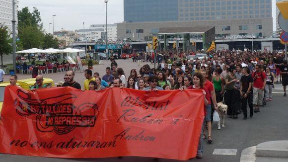 Recent manifestació a Barcelona per l'alliberament de l'Andreu / Font: Racocatala.cat