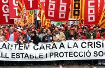 Els sindicats demanen ocupació i protecció social amb motiu del Dia del Treballador