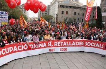 Treball sense retallades i amb garanties de futur, reclamacions dels sindicats el Primer de Maig