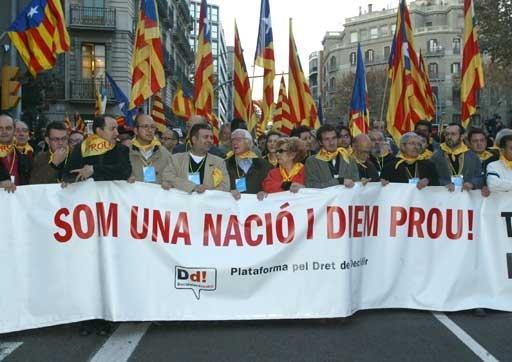 Manifestació pel dret a decidir a Barcelona
