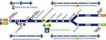 Afectada la circulació de trens a l'estació de les Planes fins diumenge