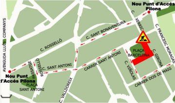 El trànsit a la plaça de Barcelona quedarà restringit la setmana vinent