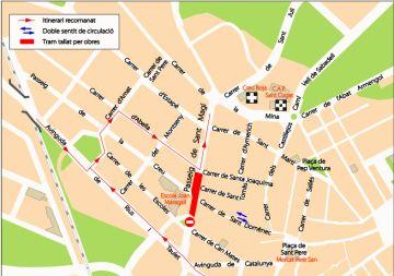 El tall de trànsit del passeig Sant Magí es posposa fins la tercera setmana de novembre