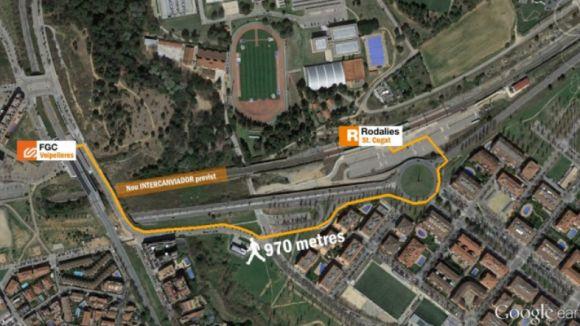 Diverses entitats reclamen l'aturada de les obres a l'estació de Renfe i exigeixen l'intercanviador amb FGC