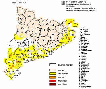 El Vallès Occidental entra en fase de risc d'incendis moderat
