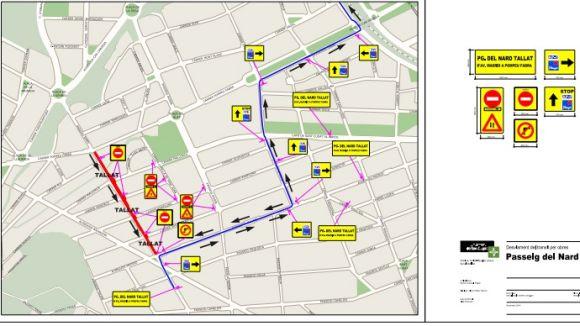 Tall de trànsit al passeig del Nard a partir del 9 de juny per obres