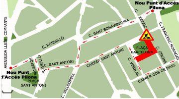 Nou tall de trànsit a la plaça de Barcelona