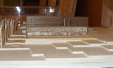 Maqueta de la novena escola de primària, que es construïrà al Turo de Can Matas i s'obrirà d'aquí a tres anys