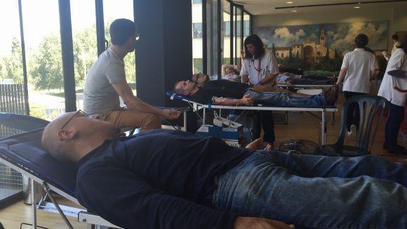 Més de 300 donacions a la 9a Marató de Donació de Sang de Sant Cugat
