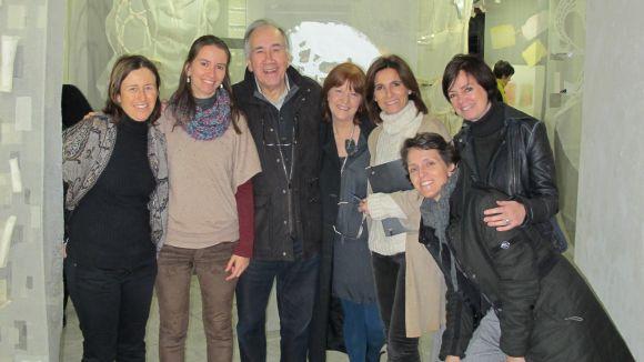 El poeta Joan Margarit visita Pou d'Art