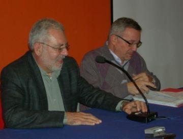 Martí (dreta), en un moment de la conferència