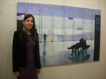L'artista santcugatenca Marta Domingo s'estrena amb la mostra 'Passadissos pel món'