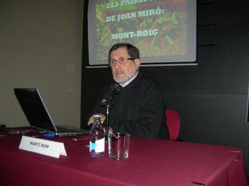 Més d'una desena de persones assisteixen a la conferència 'Els paisatges de Joan Miró: Mont-roig'
