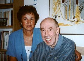 Foto de 1997 amb la seva dona.