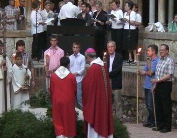 Els santcugatencs celebren un any més la mort del màrtir Cugat amb un acte al Monestir