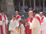 La cerimònia ha anat a càrrec del bisbe de Girona, Carles Soler i Perdigó, antic bisbe de la demarcació del Vallès