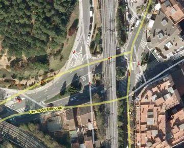 Els talls de trànsit per la construcció de la rotonda dels ponts de l'estació comencen aquest dissabte