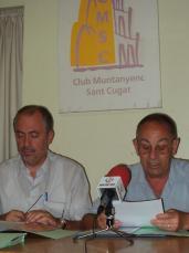 Presentació de la marxa a la seu del Club Muntanyenc.