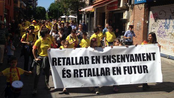 Una de les manifestacions que es van fer durant els anys posteriors / Foto: Cugat Mèdia