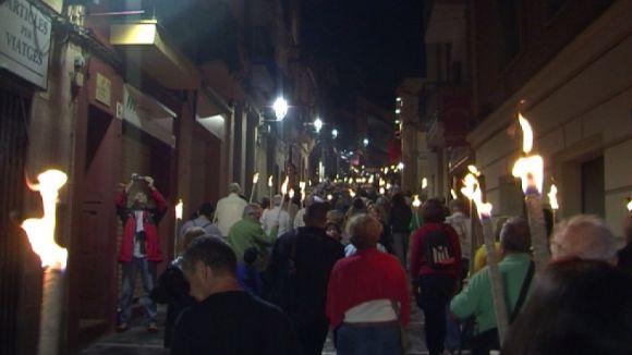 La Marxa de Torxes prologa avui els actes de l'Onze de Setembre a Sant Cugat