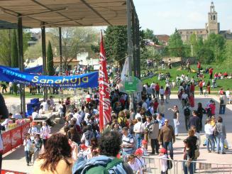 L'arribada s'ha situat al parc Ramon Barnils