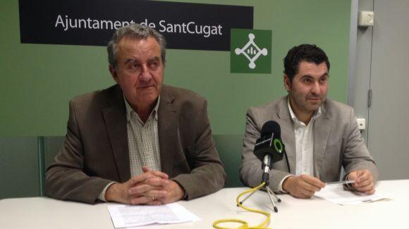 Jaume Massanés i Ferran Villaseñor han presentat la moció en roda de premsa aquest dilluns
