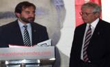 Joan Clos va fer costat a Jordi Menéndez en l'acte de presentació de la política econòmica del candidat socialista a l'alcaldia de Sant Cugat