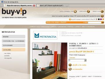 Les immobiliàries recorren a webs d''outlet' de roba per vendre pisos