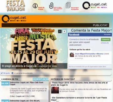 Festa Major multimèdia i participativa a Cugat.cat
