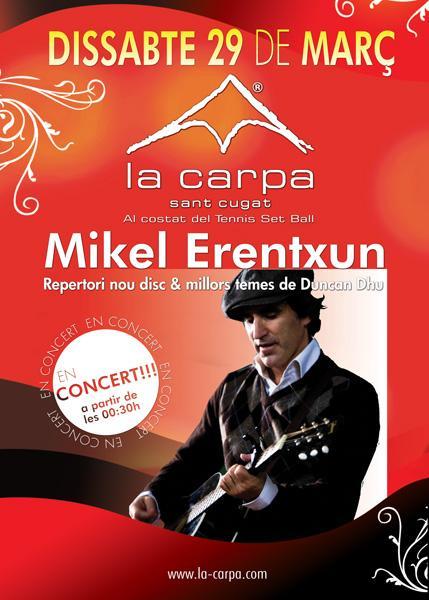 La Carpa celebra el seu aniversari amb un concert de Mikel Erentxun amb entrades gratuïtes per a Cugat.cat