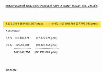 Fèlix Millet hauria negociat amb Ferrovial el 4% per l'obra del PAV3 de Sant Cugat