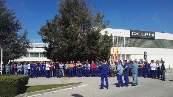 Delphi recorda amb un minut de silenci els treballadors desapareguts en l'accident de Germanwings