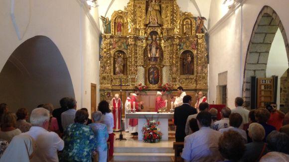 Imatge d'arxiu d'una Missa Major a l'Església de Sant Cebrià / Foto: Cugat Mèdia
