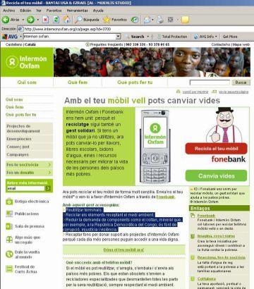 Campanya d'Intermón per reciclar i reutilitzar telèfons mòbils