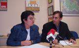 Sara Bertran i Eduard Pomar van reclamar la nova biblioteca en roda de premsa