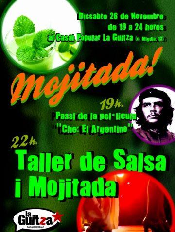 La Guitza organitza una 'mojitada', la projecció d'una pel·lícula i un taller de salsa