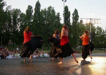 La dansa supera també la prova del futbol i aplega un centenar de santcugatencs al parc Ramon Barnils