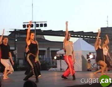 La mostra de tallers aplega unes 500 persones a la plaça del Rei per tancar l'Stage de Dansa