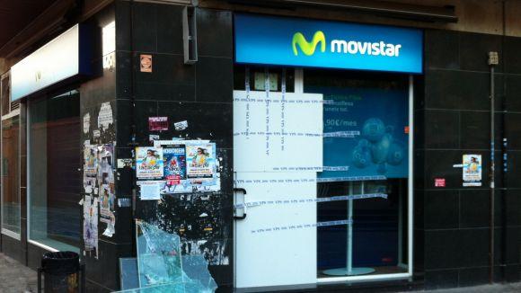 Nou robatori a la botiga Movistar a la plaça de Doctor Galtés