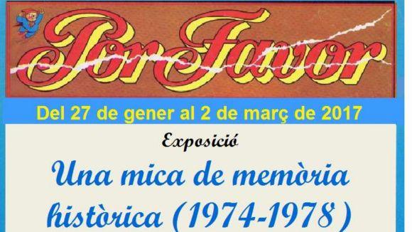 El Memorial Vázquez Montalbán organitza una exposició sobre la revista 'Por Favor' a l'Ateneu